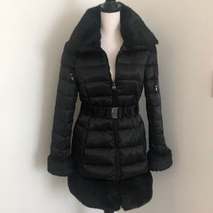 Laundry by Shelli Segal Down Faux Fur Puffer Coat